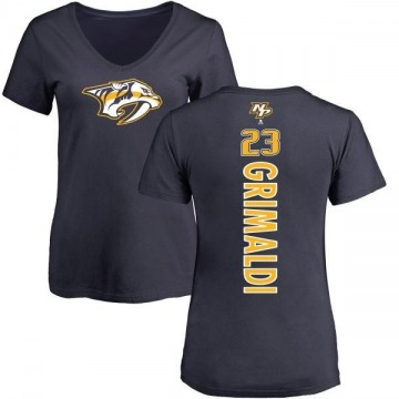 Women's Rocco Grimaldi Nashville Predators Backer T-Shirt - Navy